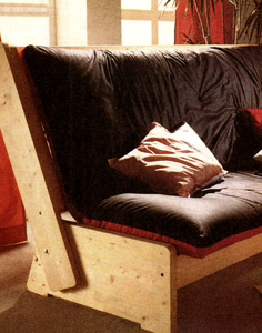 Конструкция раскладного дивана под футон